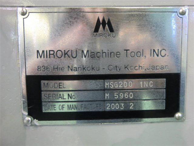 MIROKU   ミロク機械 MSG-200-1NC