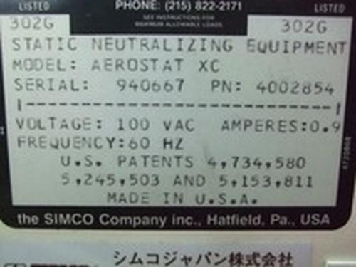 イオナイザー SIMCO   シムコジャパン AEROSTAT XC