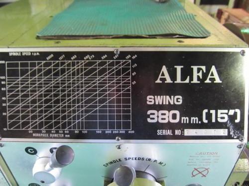 7尺旋盤 ALFA(IND) 380×1000