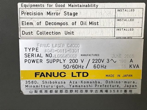 発振器 FANUC   ファナック C4000-MODEL-E