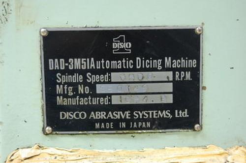 ダイシングマシン DISCO   ディスコ DAD-3M5I