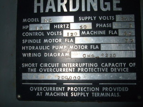 タレット旋盤 HARDINGE(USA) HC